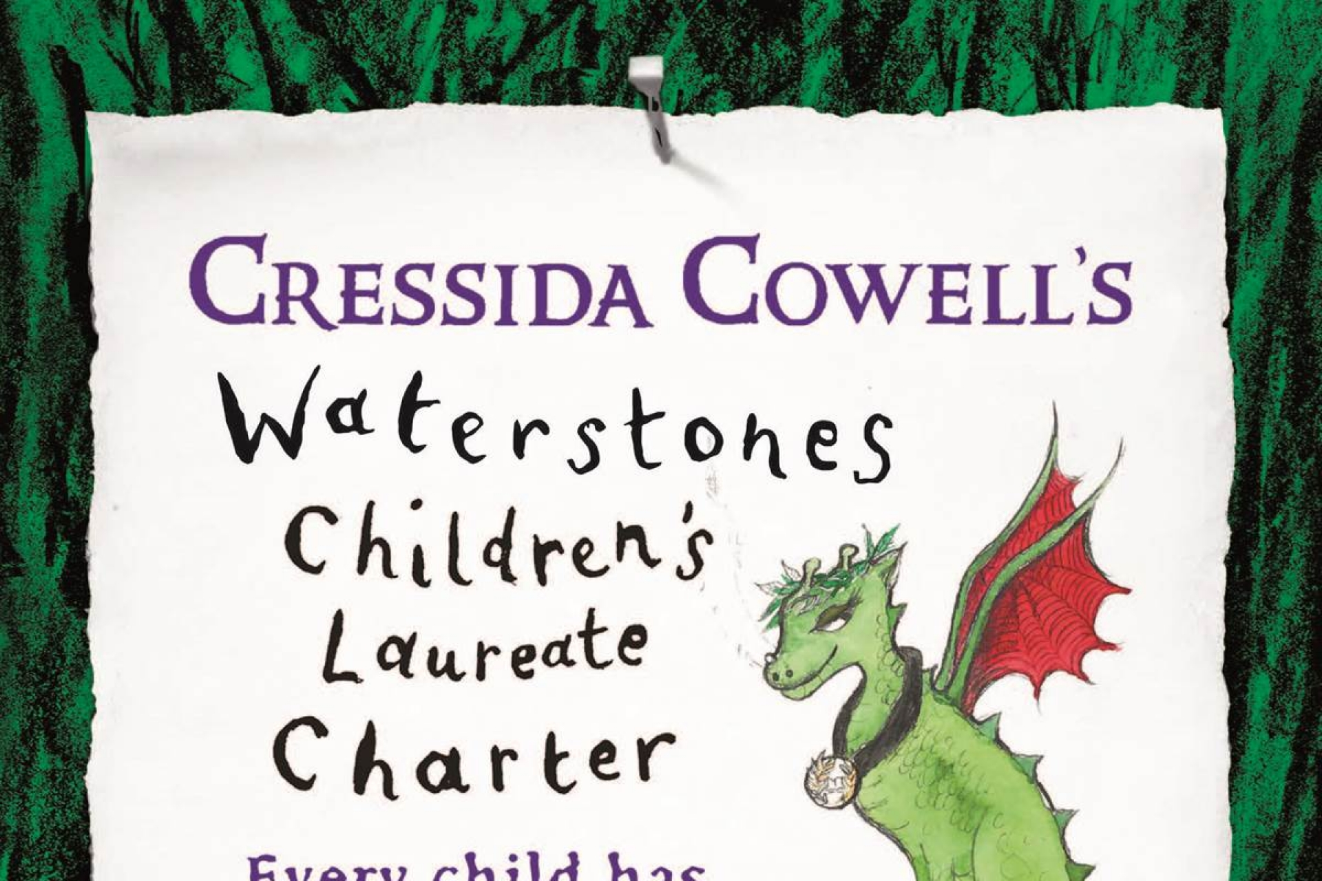 Cressida Cowell, Waterstones Children's Laureate 2019–2021