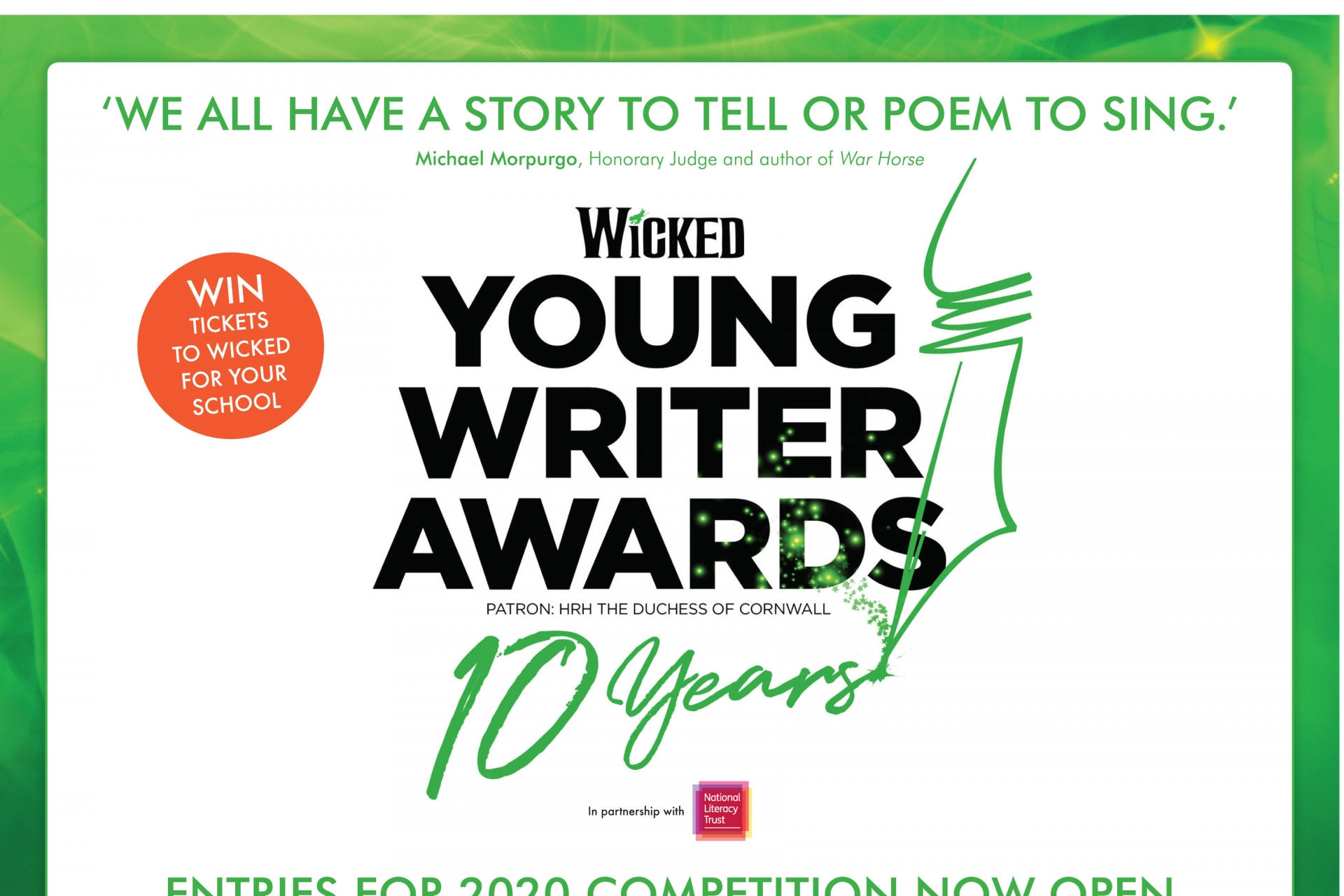 Wicked Young Writer Awards 2020