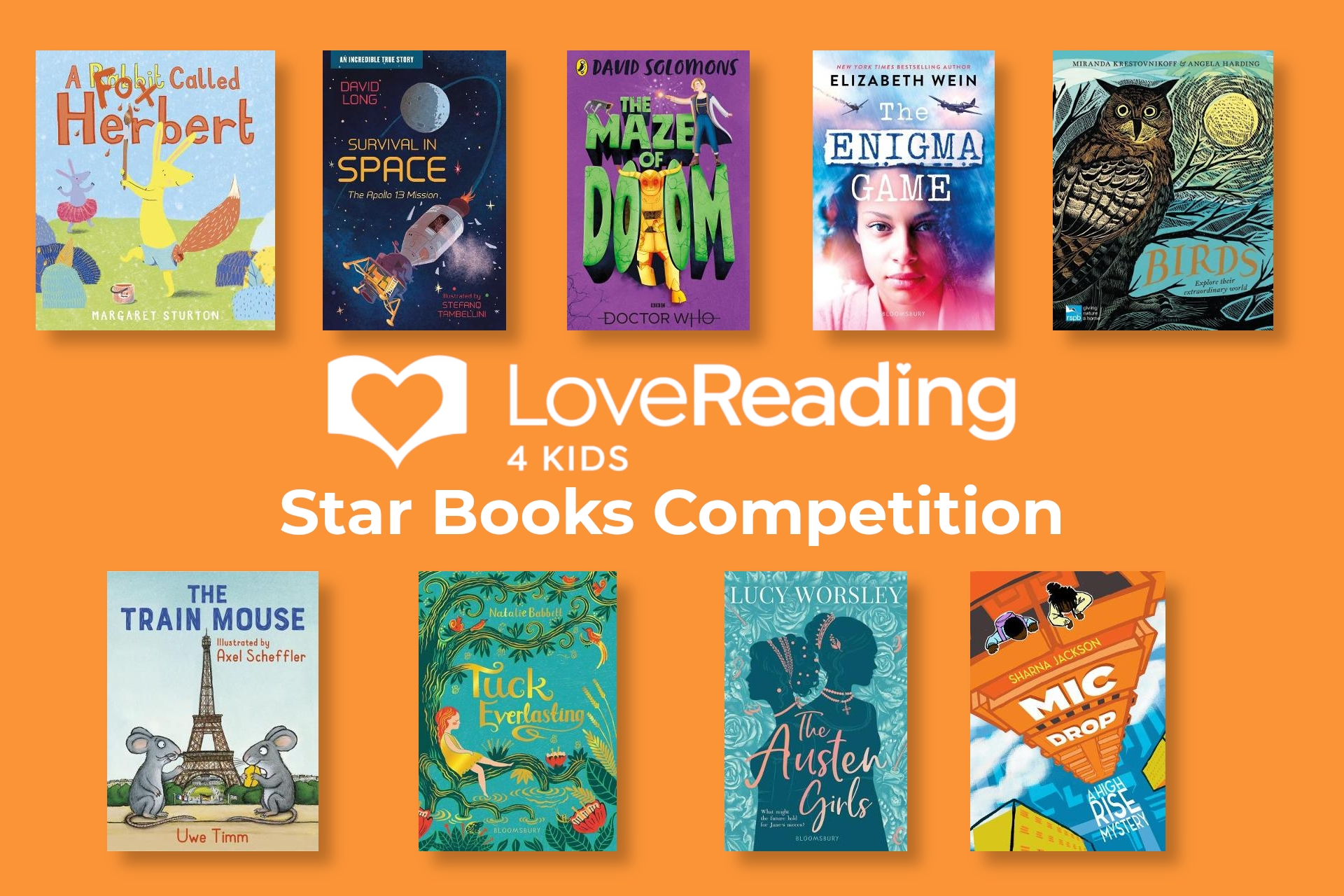 Win Our Second Set of LoveReading4Kids Star Books 2020!