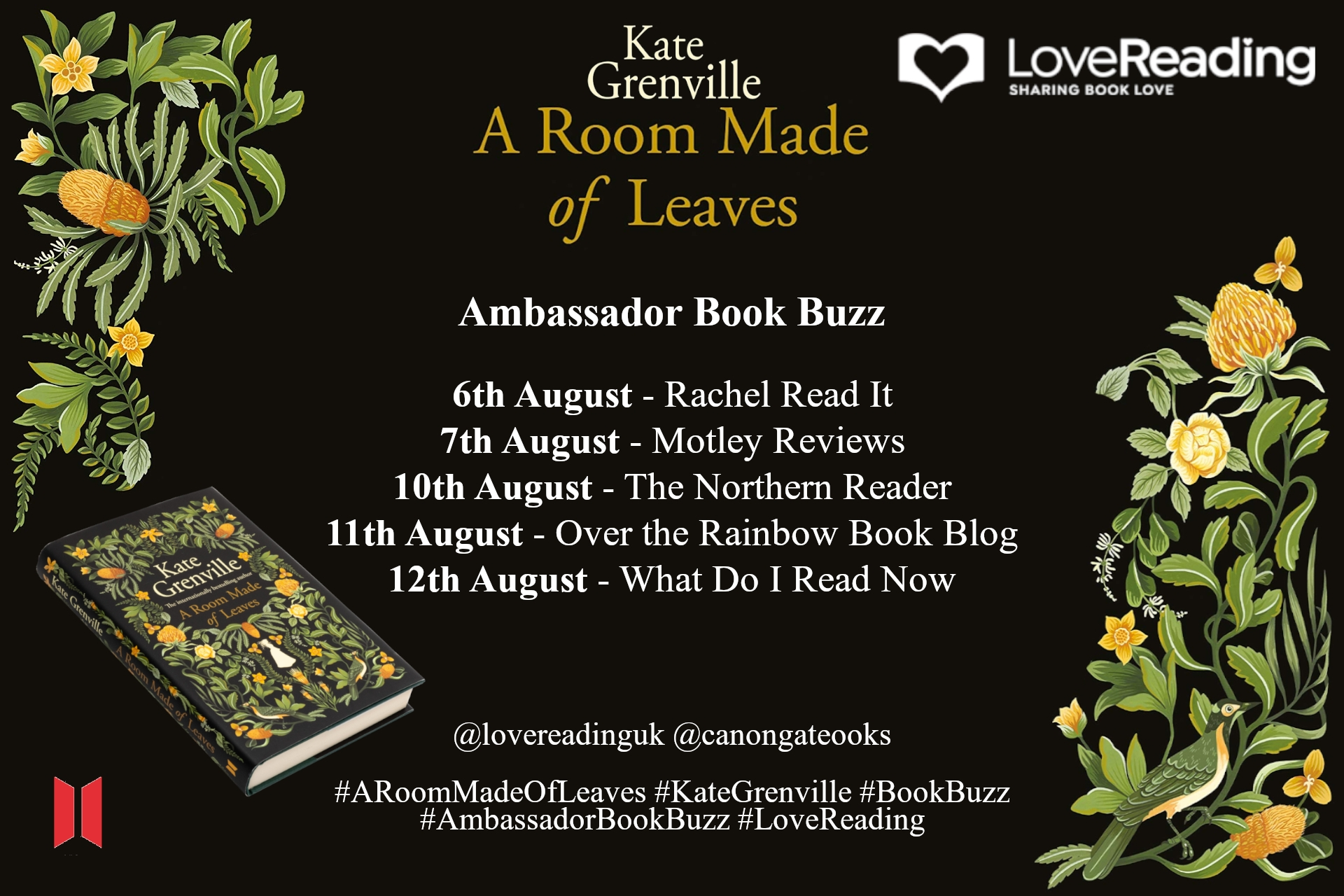Ambassador Book Buzz: A Room Made of Leaves by Kate Grenville