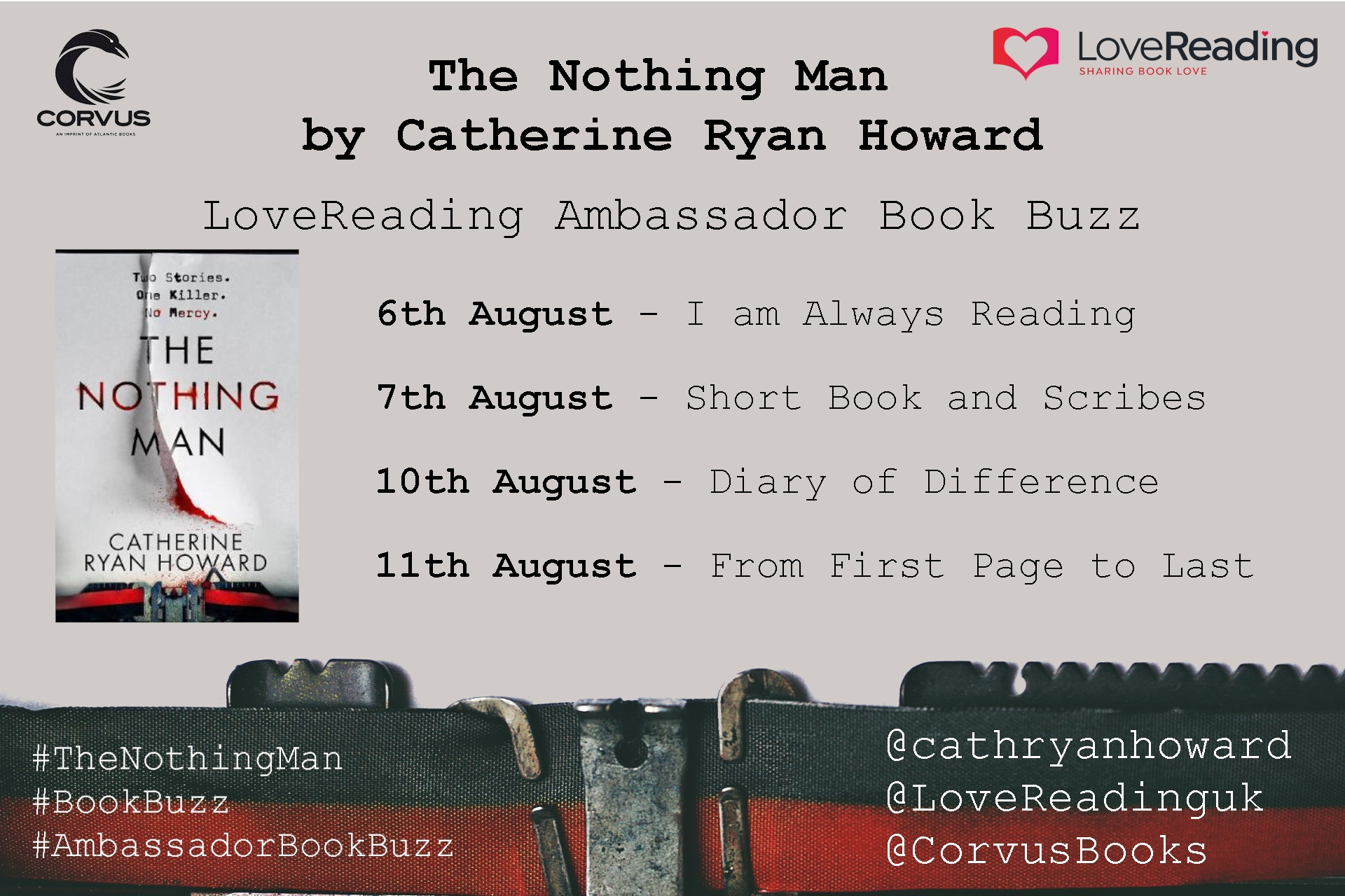 Ambassador Book Buzz: The Nothing Man by Catherine Ryan Howard