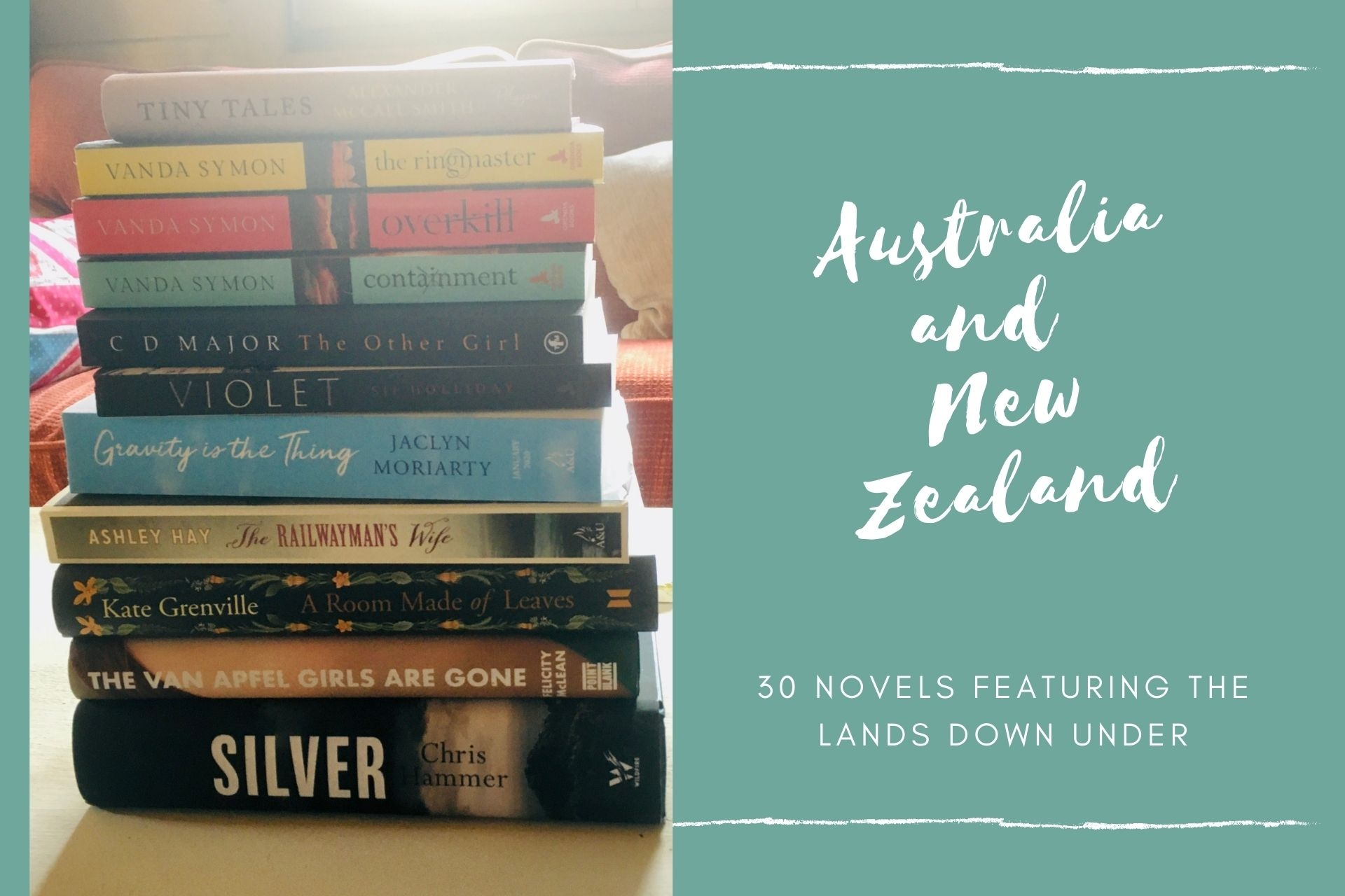 30 Novels Featuring The Lands Down Under
