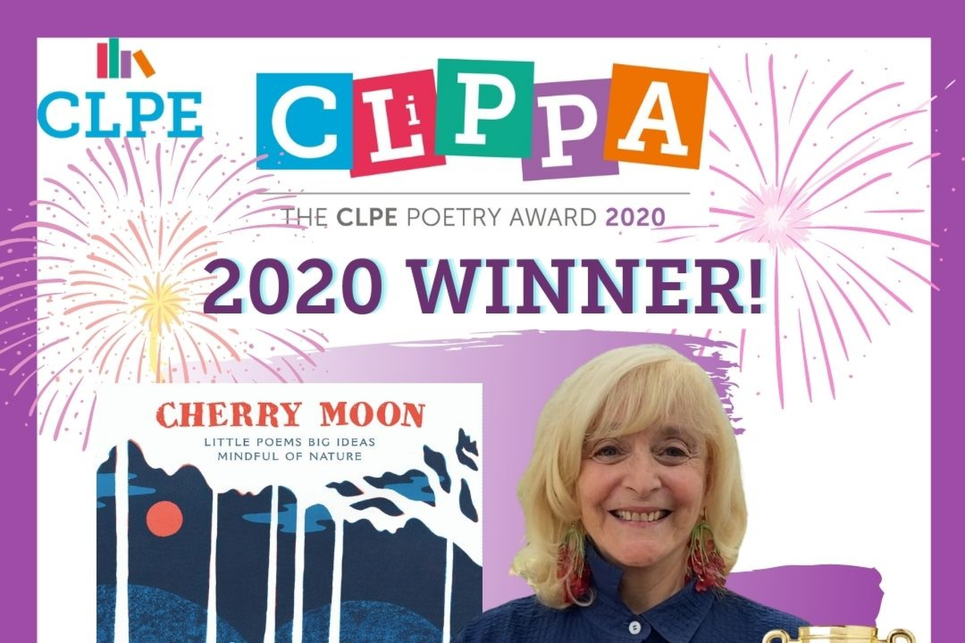 Zaro Weil wins 2020 CLiPPA with her stunning poetry collection,  Cherry Moon.