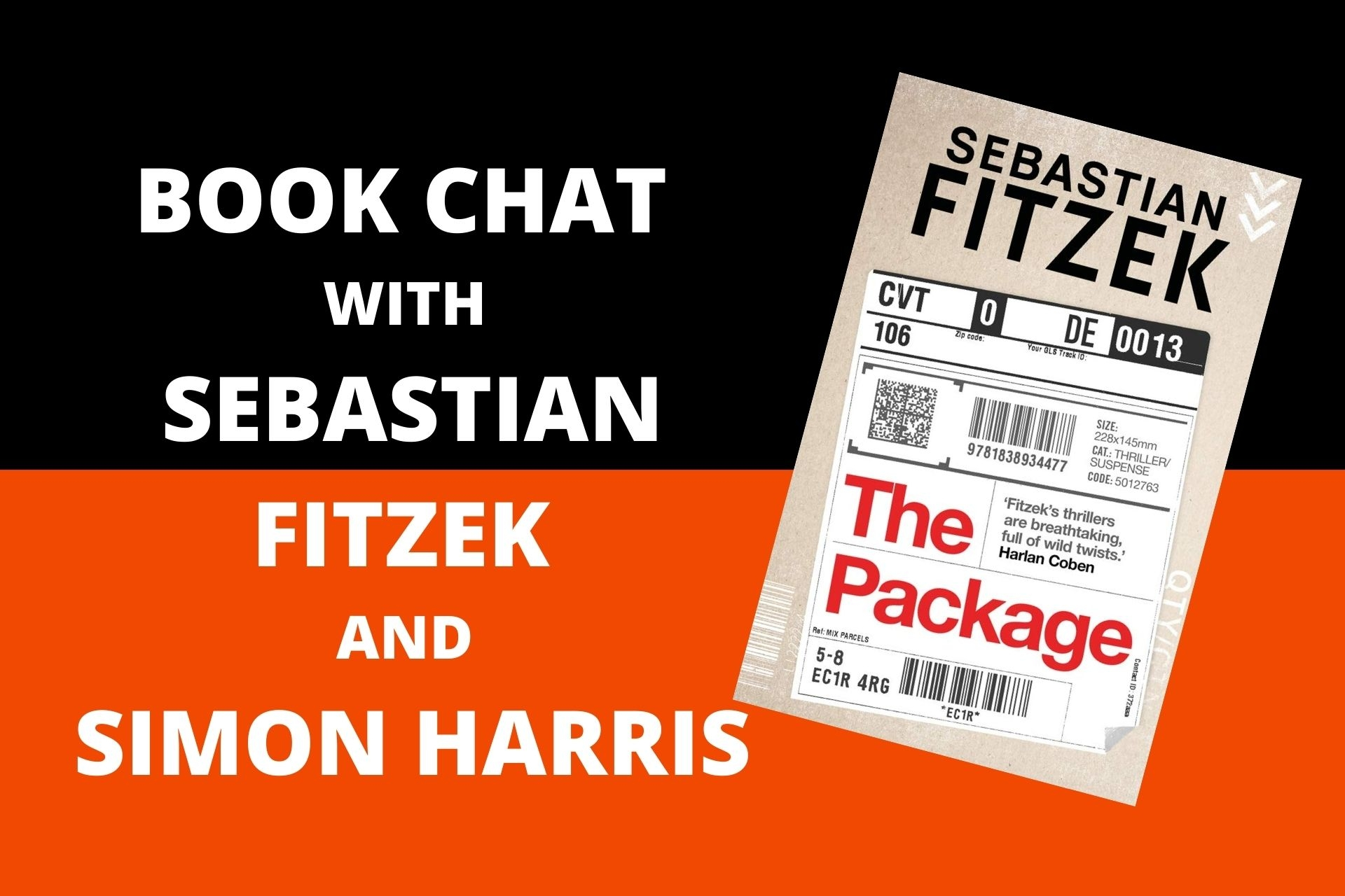 Book Chat with Sebastian Fitzek and Simon Harris