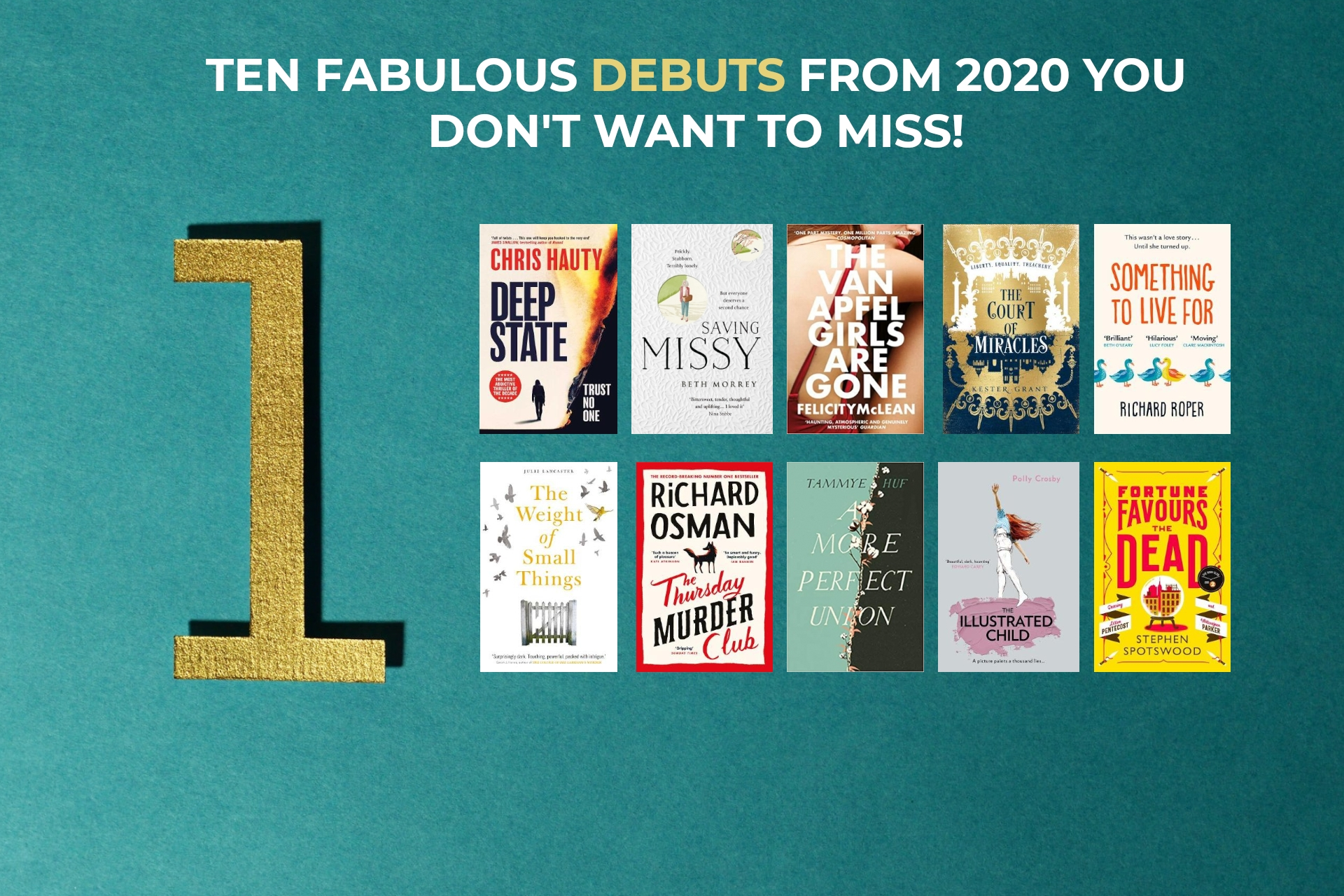 10 Fabulous Debuts from 2020 You Won't Want to Miss!