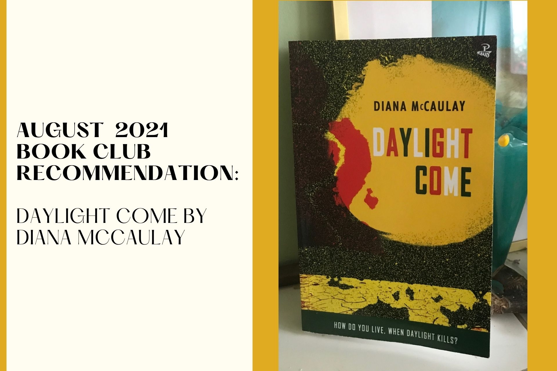 August 2021 Book Club Recommendation: Daylight Come by Diana McCaulay