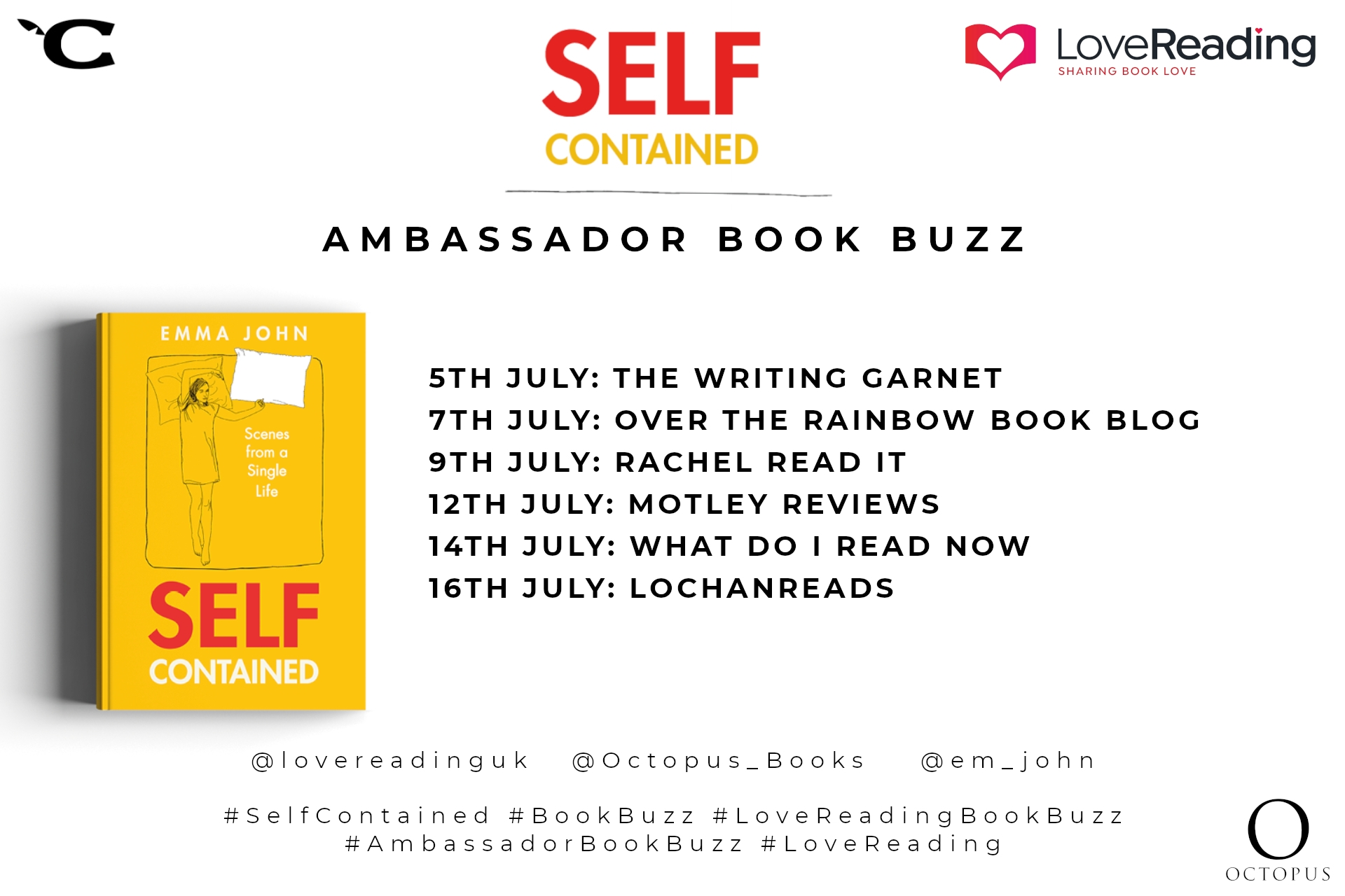 Ambassador Book Buzz: Self-Contained by Emma John