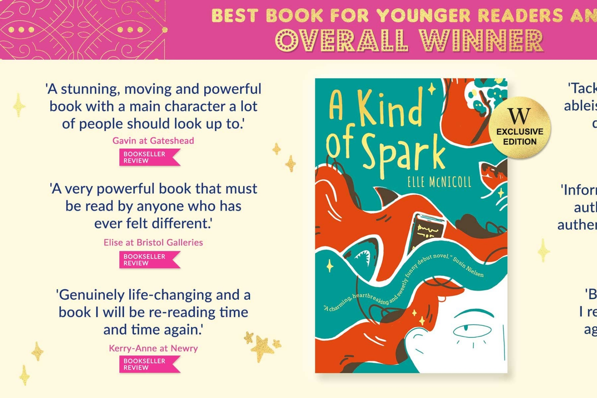 A Kind of Spark takes the triple crown with the Waterstones Children's Book of the Year