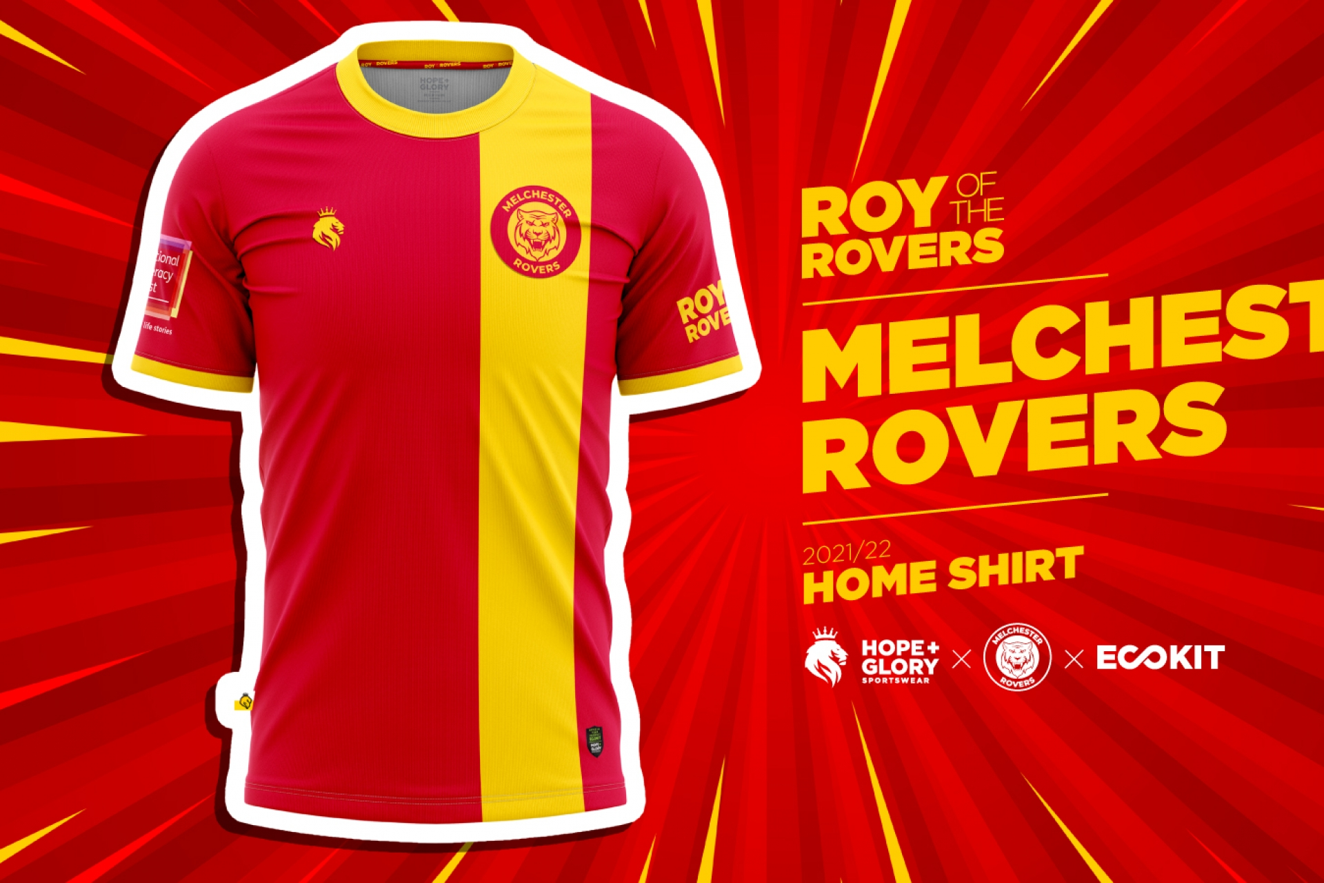 Indie Publisher Rebellion launches limited edition football shirts alongside new Roy of the Rovers book