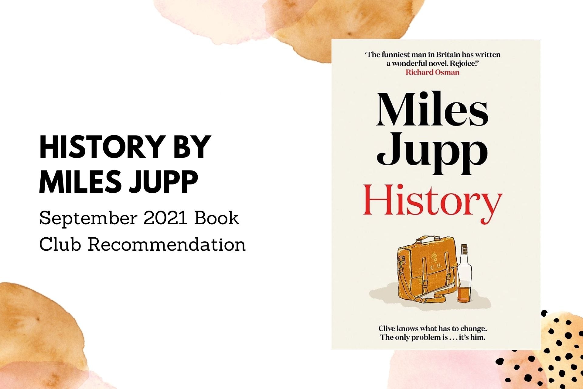 September 2021 Book Club Recommendation: History by Miles Jupp