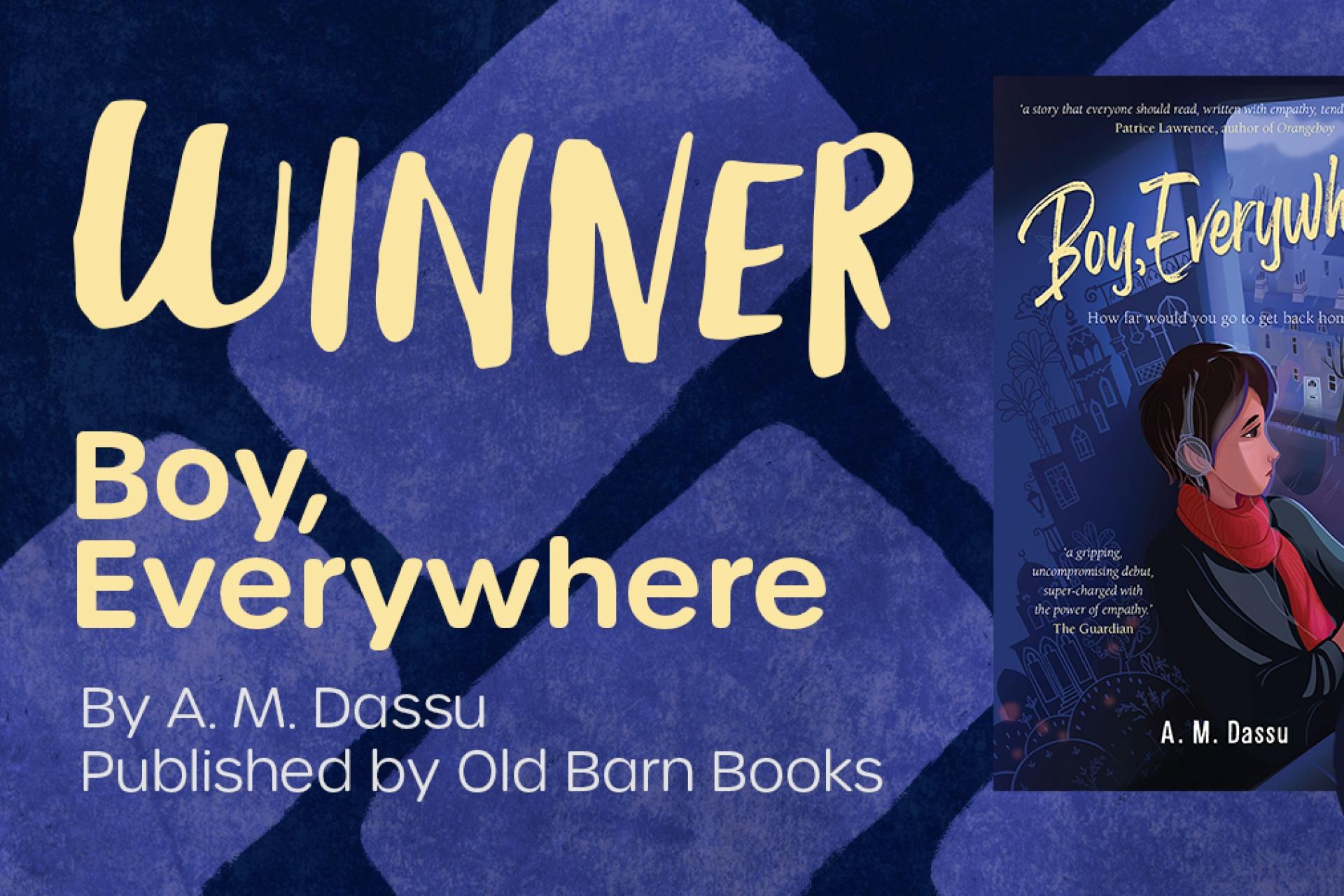 Congratulations to A.M. Dassu, 2021 Little Rebels Award Winner for Boy, Everywhere
