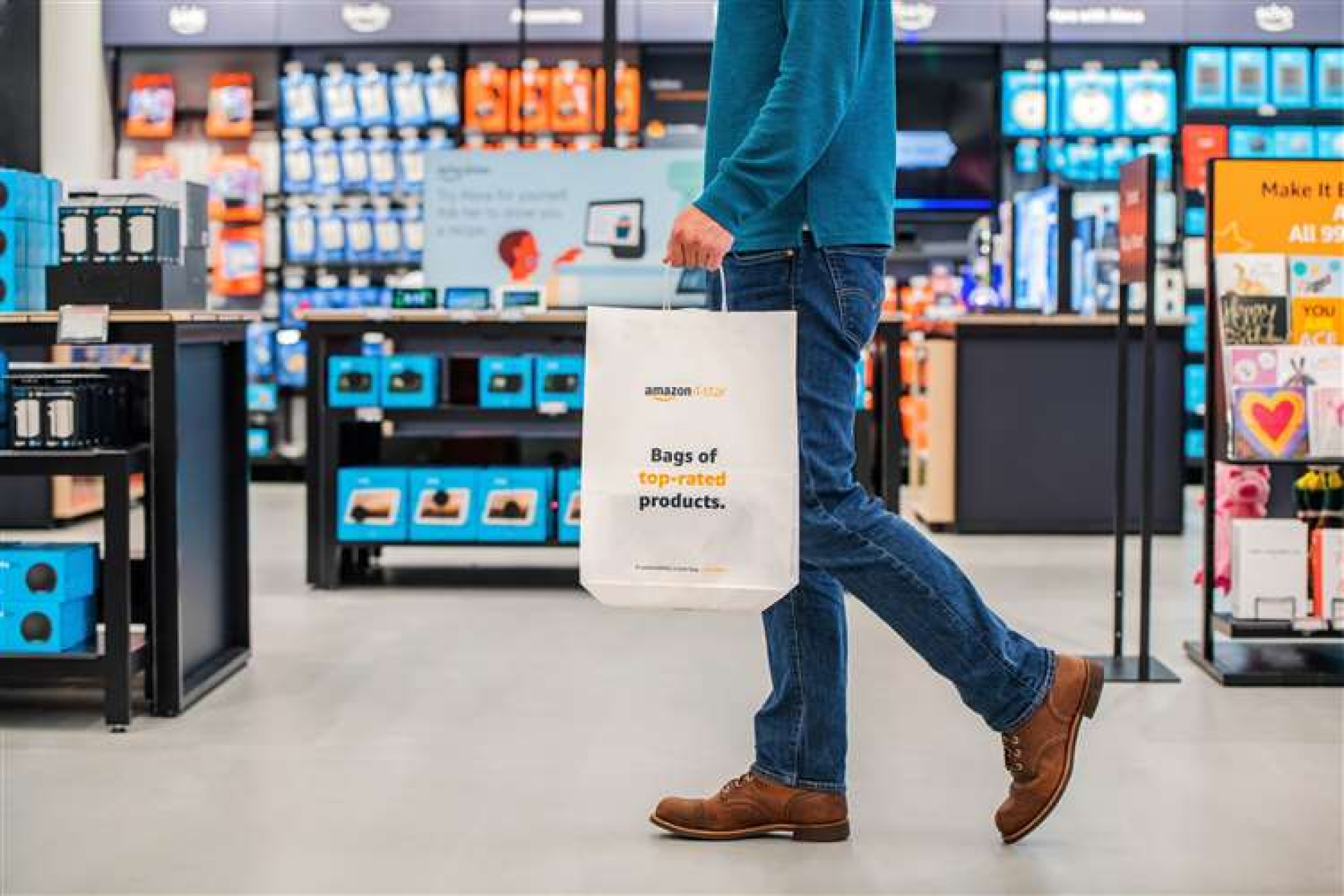 Amazon opens its first non-food store in the UK today