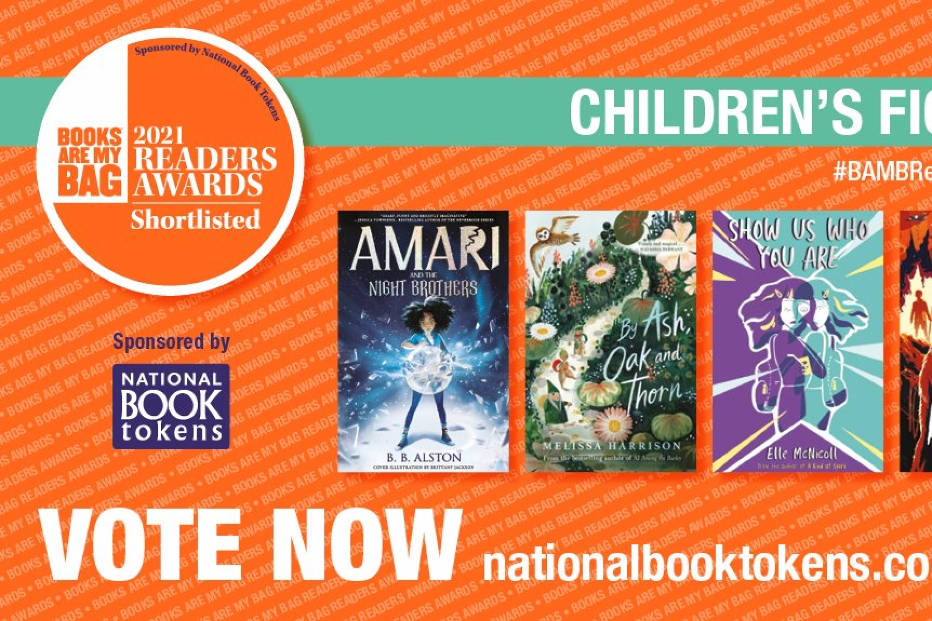 Vote for your favourite kids book and YA read in the Books Are My Bag Readers Awards