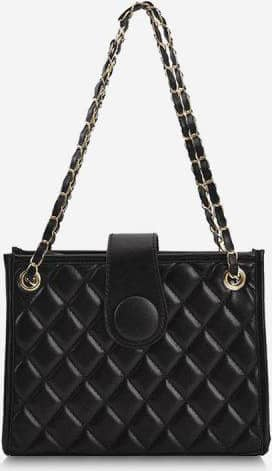 Lattice-Quilted Chain Square Shoulder Bag