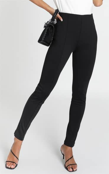 Showpo Kaylee Pants in Black - 12 Skinny Leg Pants
