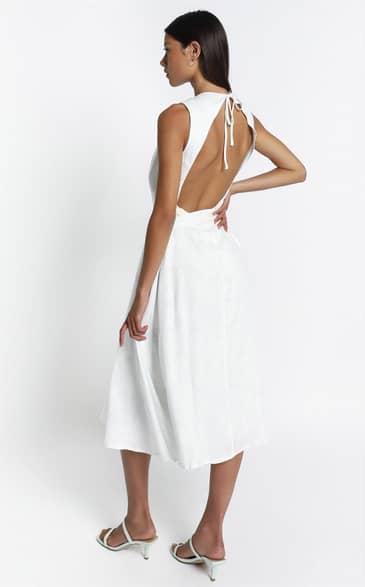 Showpo Yvie Dress in White Palm - 12 Dresses