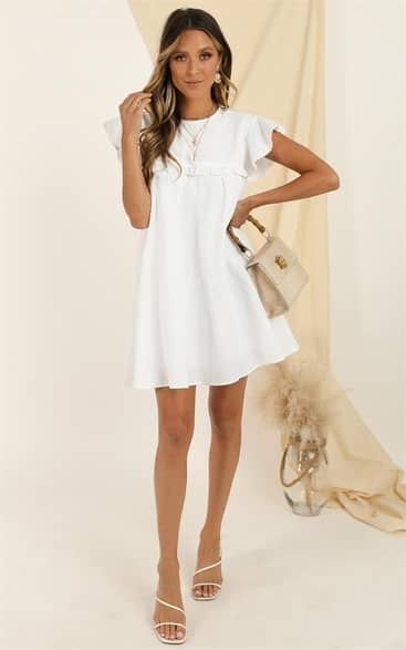 Showpo Spin The Story Dress in white - 16 (XXL) Dresses