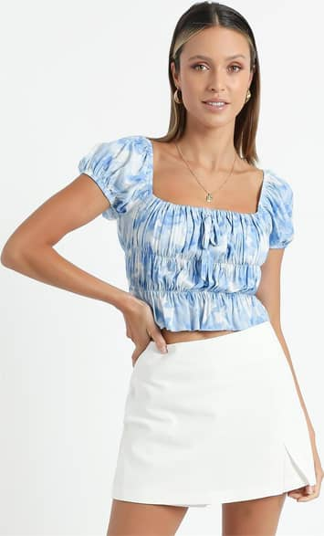 Showpo Gimme Top in Cloudy Floral - 14 Floral Tops