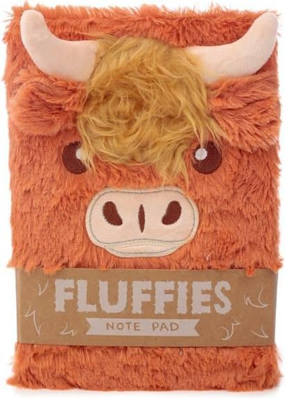 Higland Coo Fluffies Cow Notepad/notebook