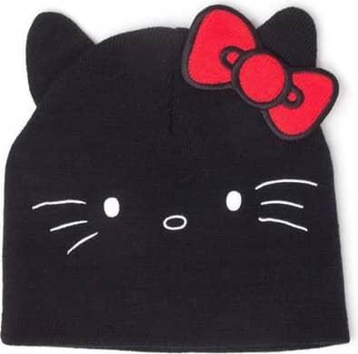 Hello Kitty - Hello Kitty Face Unisex Cuffless Beanie - Black