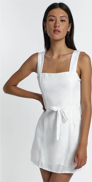 Showpo Ronan Dress in White Palm - 12 (L) Dresses