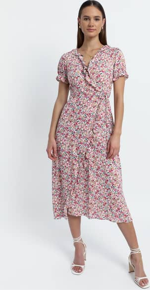 Showpo Affinity dress in Pink Floral - 8 (S) Casual Outfits