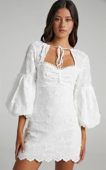 Showpo Kamillah Dress in White - 14 Dresses