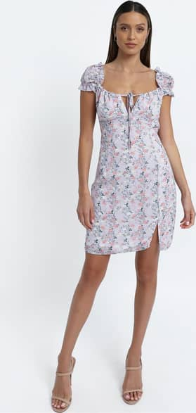Showpo Chadwick Dress in Lilac Floral - 6 (XS) The Summer Print Edit