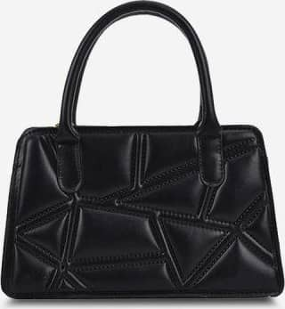 Irregular-Quilted Top Handle Chain Crossbody Bag