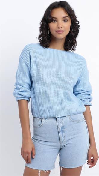 Showpo Eavan Knit Jumper in Pastel Blue - 8 (S) Separates