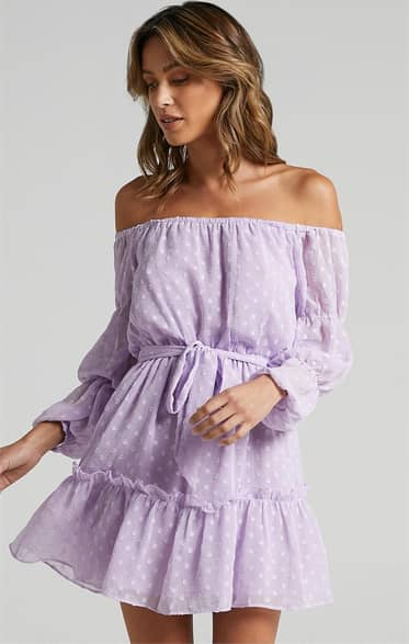 Showpo Party Life Dress in Lilac - 16 Dresses