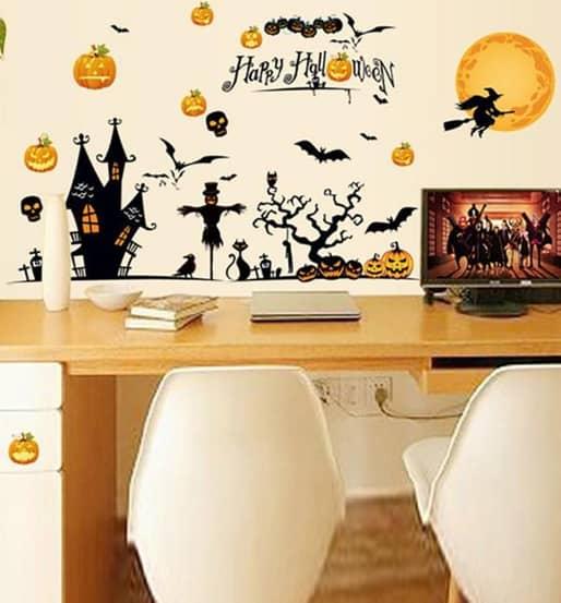 Halloween Window Clings 60*90cm Halloween Window Decorations Stickers Halloween Wall Decals