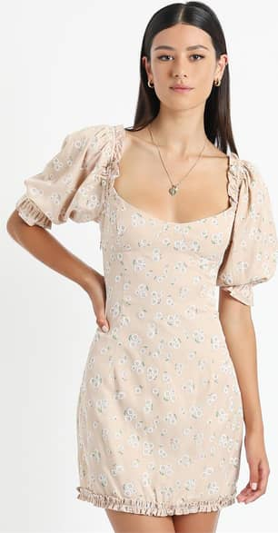 Showpo Scarlette Dress in Beige Floral - 10 (M) Casual Outfits