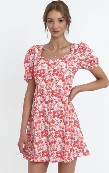 Showpo Wilma Dress in Pink Floral - 8 (S) Casual Outfits