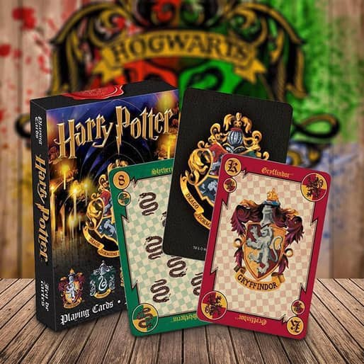 Harry Potter Playing Cards Hogwarts Puzzle Game