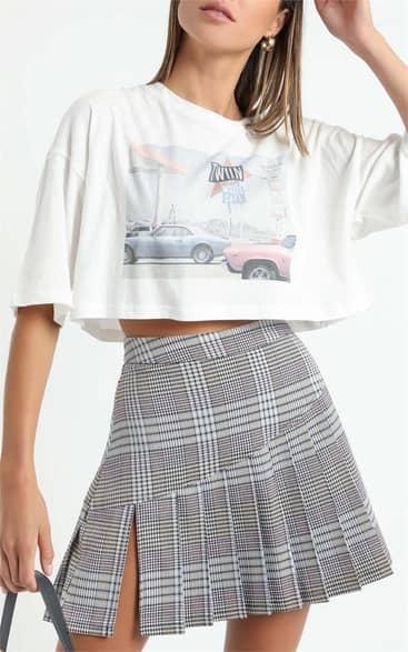 Showpo Twiin - Depict Mini Skirt in Multi - XS Mini Skirts