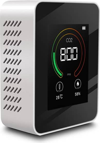 Bakeey Real Time Smart Home CO2 Detector Monitor Indoor LCD Digital Temperature Air Quality Humidity Tester