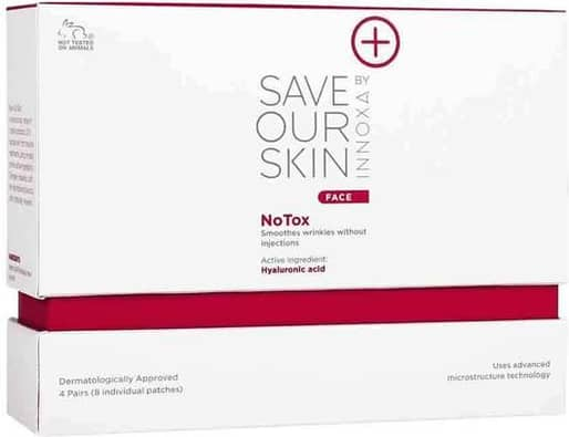 Innoxa 4PK Save Our Skin Face Anti-Wrinkle/Dark Circle Under Eye Patches/Pad
