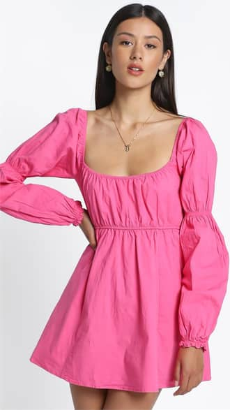 Showpo Allora Dress in Pink - 8 (S) Casual Outfits
