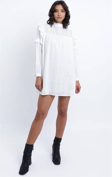 Showpo Noemi dress in White - 8 (S) Casual Outfits