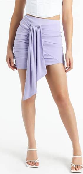 Showpo Bianca Mini Skirt in Lilac - 10 (M) Mini Skirts