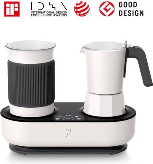 Seven & Me Smart Coffee Machine with Auto Milk Frother One-Click Control Coffee Maker Make Coffee Espresso in 3 Mins
