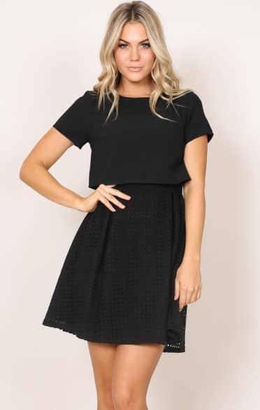 Showpo Young Spirit dress in black - 6 (XS) Work Dresses size 6
