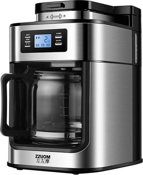 ZZUOM BG315T Automatic Coffee Machine 1000W 220V~50Hz Soy/Flour Dual Purpose Heat Preservation for Kitchen