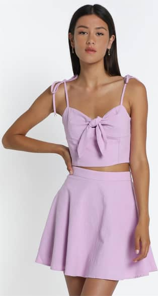 Showpo Pei Skirt in Lilac - 14 A-Line Skirts