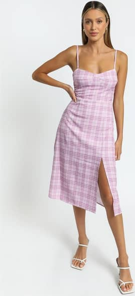 Showpo Darcey Dress in Pink Check Casual Outfits