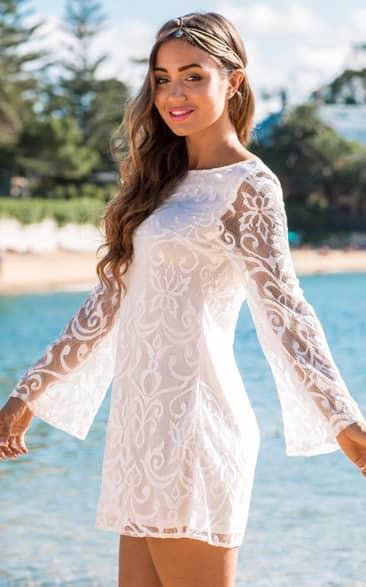 Showpo Mystical Spirit Dress in White - 6 (XS) size 6