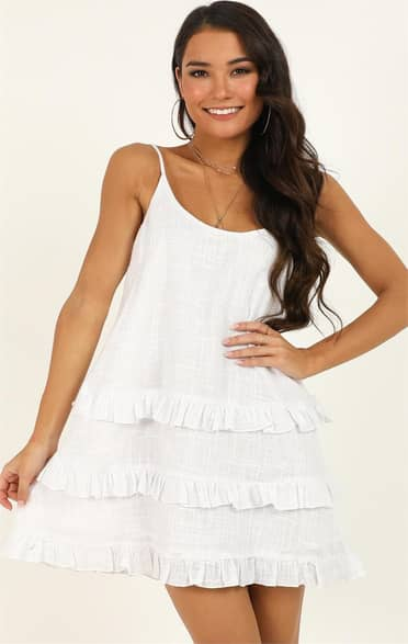 Showpo Long Reflections Dress in White - 08 Dresses