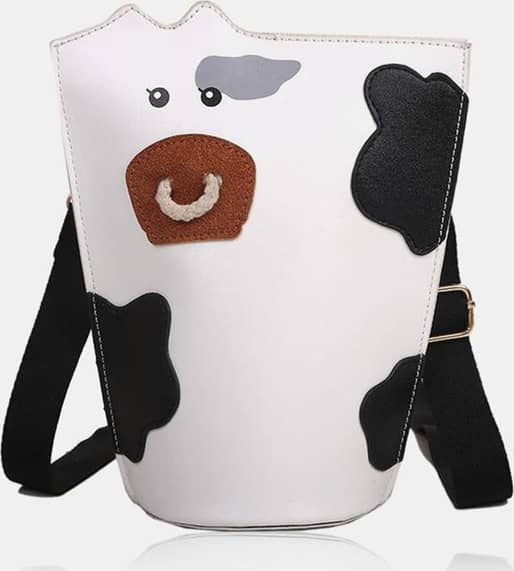 Women PU Leather Cows Pattern Fashion Casual Crossbody Bags Shoulder Bags