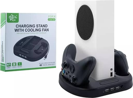 KJH-XSS-002 Multi-function Cooling Fan Cooler Base for Xbox Series S WirelessGame Controller Console Charging Station